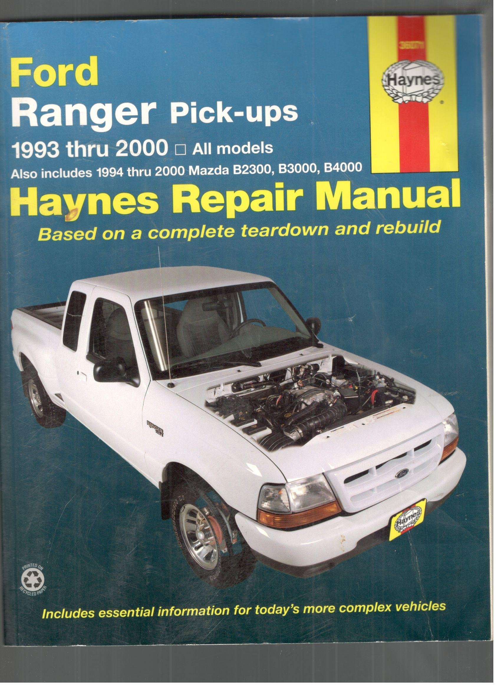 Haynes Repair Manual: Ford Ranger Pick-Ups, 1993 Thru 2000: Haynes:  Amazon.com: Books