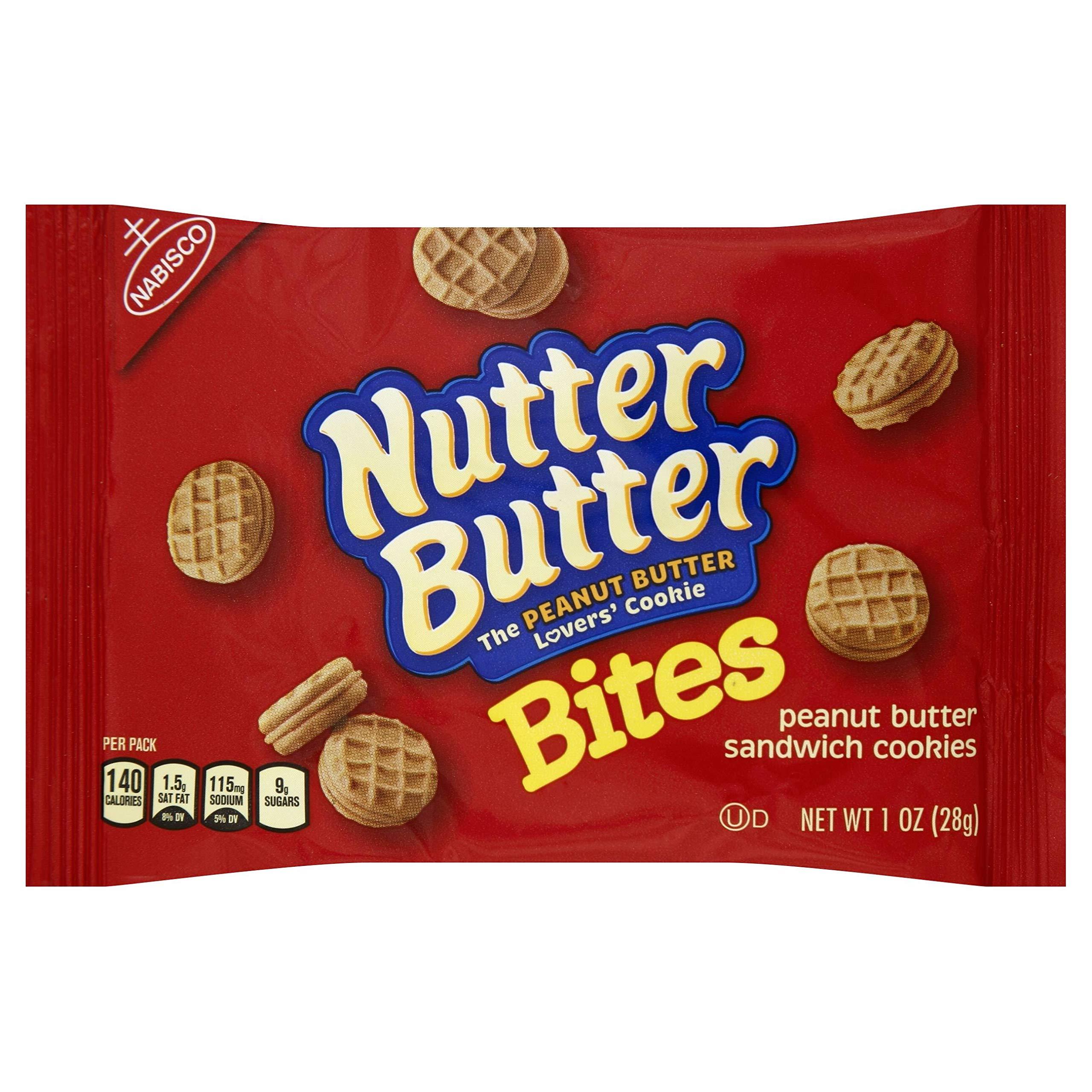 Kraft Nutter Butter Bite Peanut Butter Sandwich Cookies, 1 Ounce -- 48 per case. by Nutter Butter