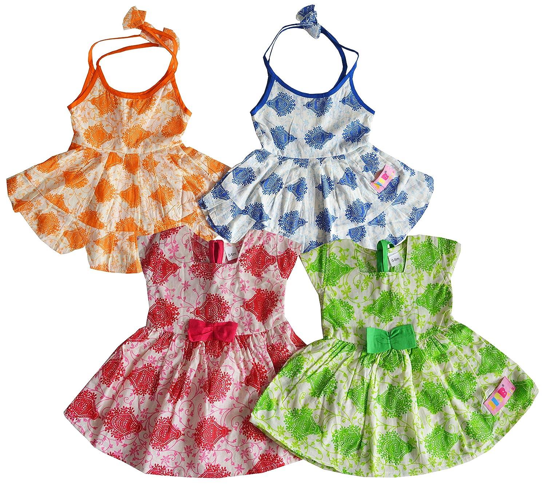 JISB Baby girls Dress,frock,Pack of 4