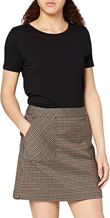 Marca Amazon - find. Check Suit Skirt - Falda Mujer