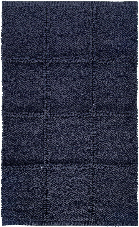 Beige Alfombra Rectangular de algod/ón iDesign Grid Alfombrilla de ba/ño Suave 53,3 cm x 86,4 cm