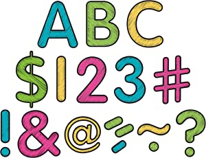 """Teacher Created Resources Chalkboard Bright's Classic 2"""" Letters Uppercase Pack (5814)"""