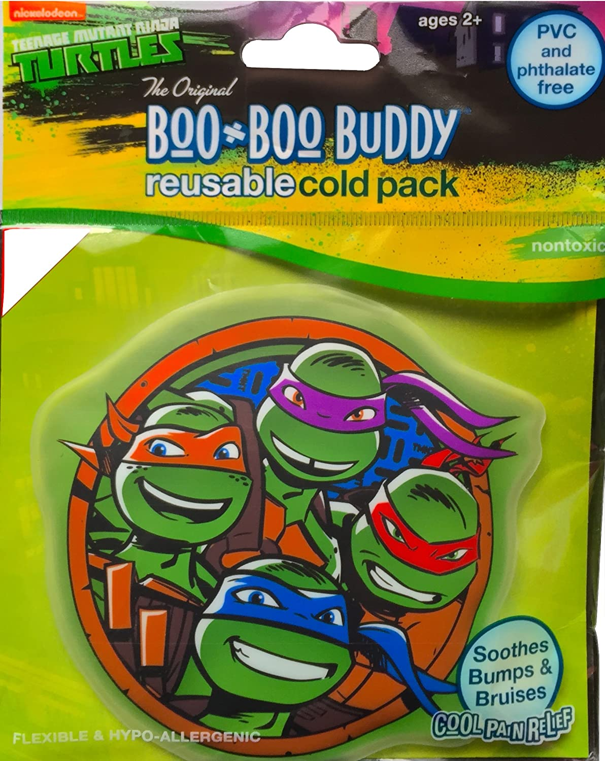Teenage Mutant Children's Cold Pack Boo Boo Buddy Reusable Cold Pack Soothes Bumps and Bruises Cold Pain Relief for Outdoor Accidents
