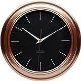 """KitchenCraft Round Copper-Effect Kitchen Wall Clock, 25.5 cm (10"""")"""