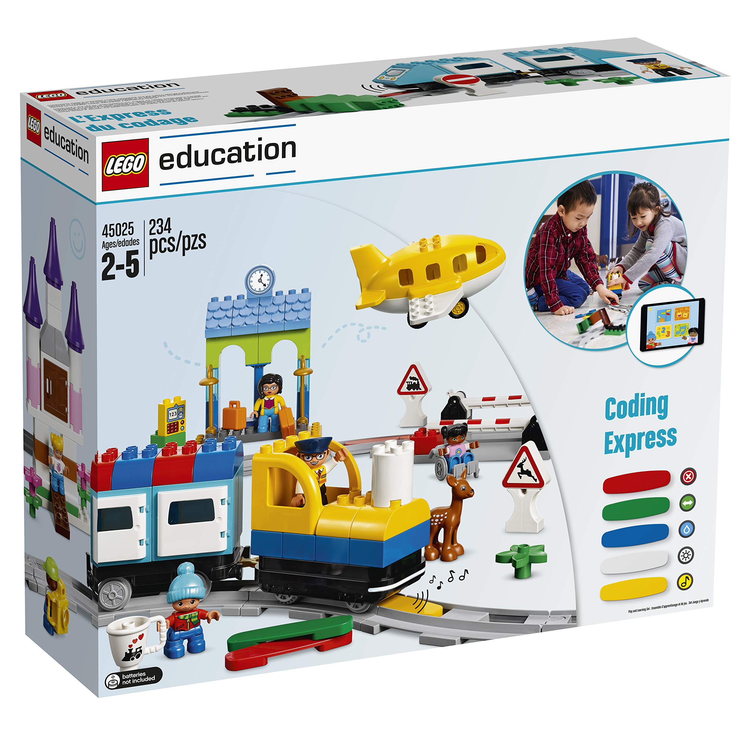 LEGO Education Duplo Coding Express 45025, Fun STEM Educational Toy, Introduction to Steam Learning for Girls & Boys Ages 2 & Up (234Piece ) by LEGO Education (Image #1)