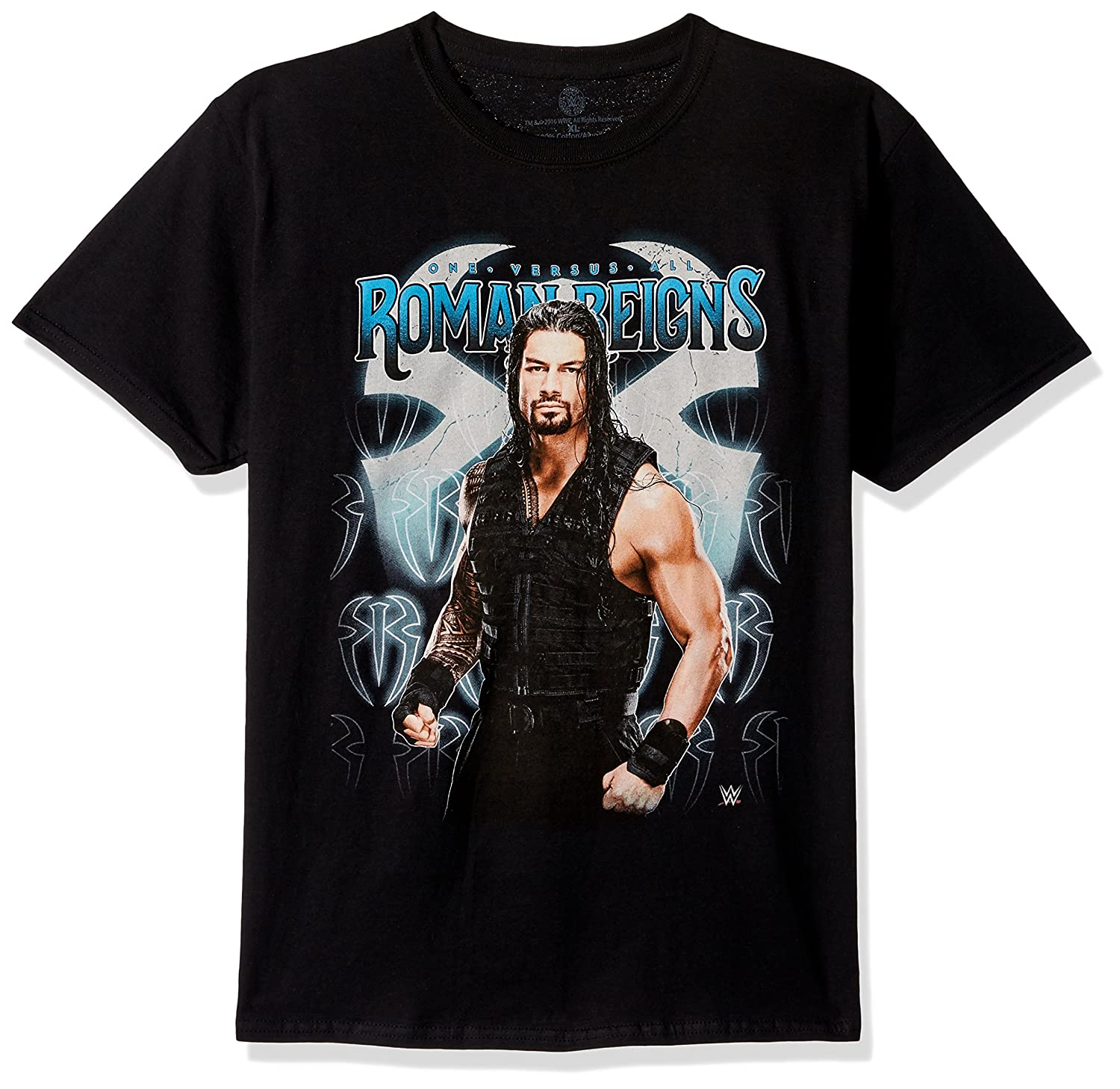 WWE Boys' Roman Reigns One Versus Al Youth Short-Sleeved T-Shirt Tearaway Label
