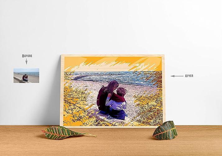 Convierte tu foto en arte | Impreso sobre madera: Amazon.es ...