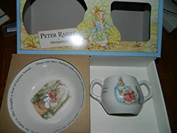 Wedgwood Peter Rabbit Bowl u0026 2 handled cup gift set : peter rabbit baby plate set - Pezcame.Com