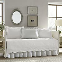 Stone Cottage Trellis 5-Piece Daybed Cover Set, Twin, White
