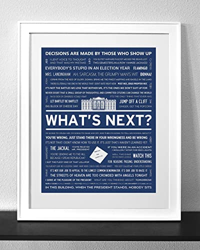 Amazoncom The West Wing Typography Quote Art Print Frame Not