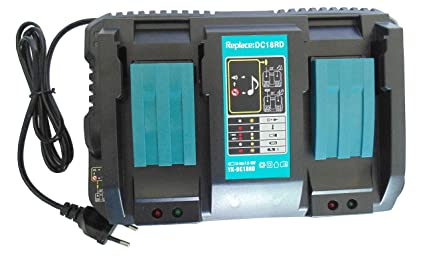 Beste Akku Repuesto para 4A Cargador rápido doble Makita DC18RD cargadores dc18rd DC18RC DC18RA para baterías MAKITA BL1850 BL1840 BL1830 BL1840 ...