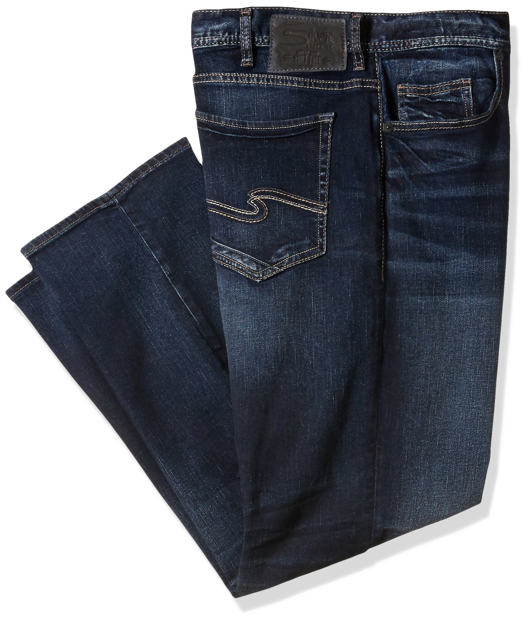 Silver Jeans Men's Big and Tall Grayson Easy Fit Straight Leg, Dark Vintage Wash, 44 x 36