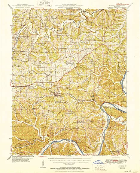 Amazon Com Yellowmaps Eugene Mo Topo Map 1 62500 Scale 15 X 15