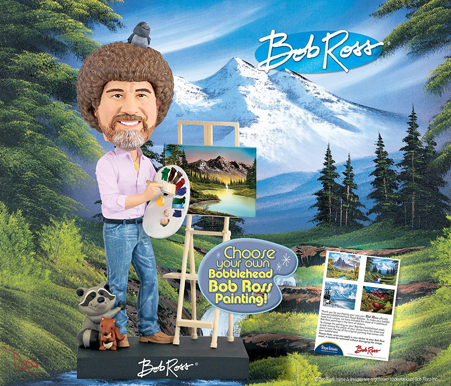 Amazoncom Royal Bobbles Bob Ross Bobblehead Collectible