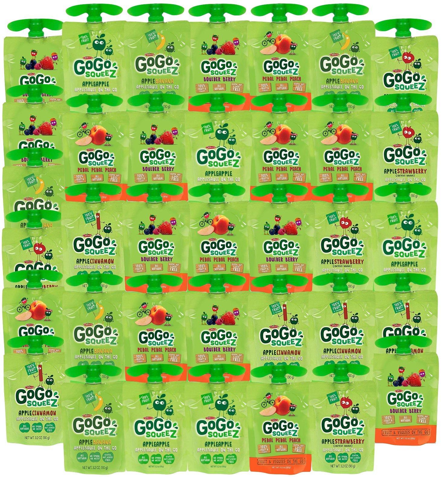 GoGo Squeez (36 Count) Organic Applesauce, Fruit, Veggies Variety Pack