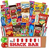 The Snack Bar - Snack Care Package (40 count) - Variety Assortment with American Candy, Fruit Snacks, Gift Snack Box for…
