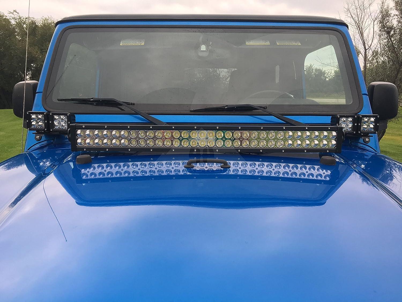 4x4 Fabworks 97 06 Jeep Wrangler Tj Lj 30 Inch Led Light Wire Harness On Jk Hood Bar Mounting Brackets Automotive