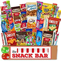 The Snack Bar - Snack Care Package (40 count) - Variety Assortment with American...