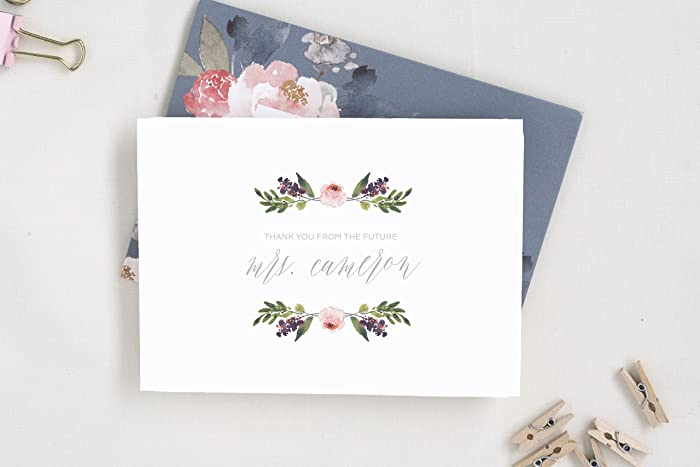 thank you cards wedding bridal shower thank you cards future mrs cards
