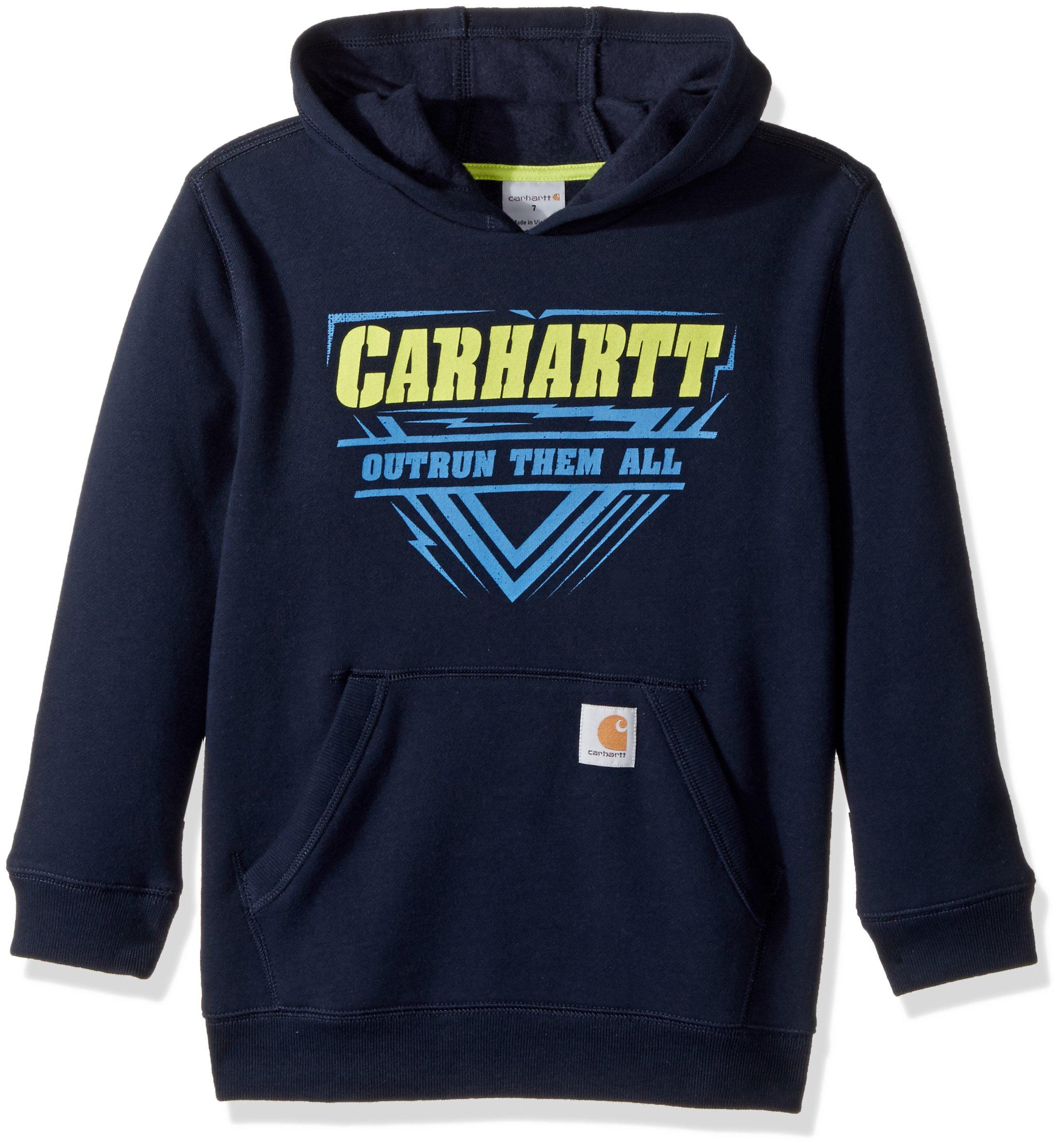 Carhartt Boys Long Sleeve Sweatshirt, Navy XL-18/20