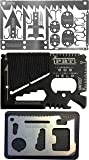 Survival MultiTool Card (3 TOOL PACK) Bug Out Bag CampingTool: 3 Best Multi tools for Camping and Wilderness Survival Preppers Gear; Fishing Camping Hiking Hunting Emergency Kit: