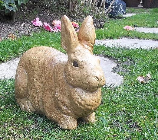 LittleGems - Estatua de Conejo/Conejo de Piedra, Adorno de Estatua/Escultura para jardín y hogar, Recuerdo de Sandy, Fleck & Noir: Amazon.es: Jardín