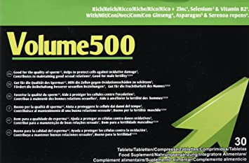 VOLUME500 30 Capsules | Increase the quantity and quality of sperm ~ 1 Month supply |