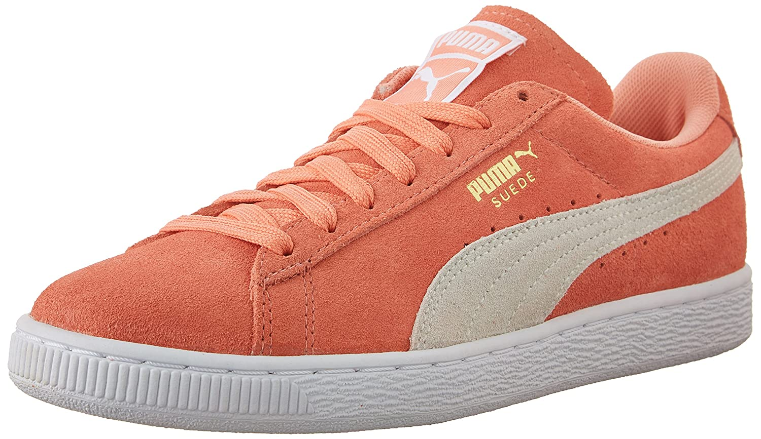 PUMA Women's Suede Classic Sneaker B010FQ0ABW 5.5 M US|Desert Flower/White