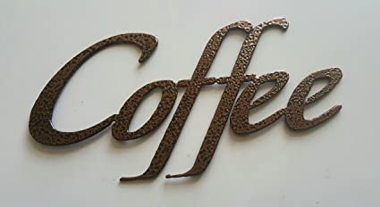 Coffee Word Kitchen/Home Decor Metal Wall Art & Amazon.com: Coffee Word Kitchen/Home Decor Metal Wall Art: Home ...