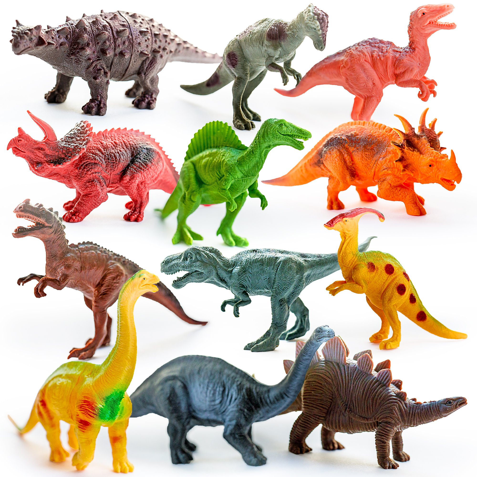 EDUCATIONAL Dinosaurs Action Figures For Kids Plastic Toys Set