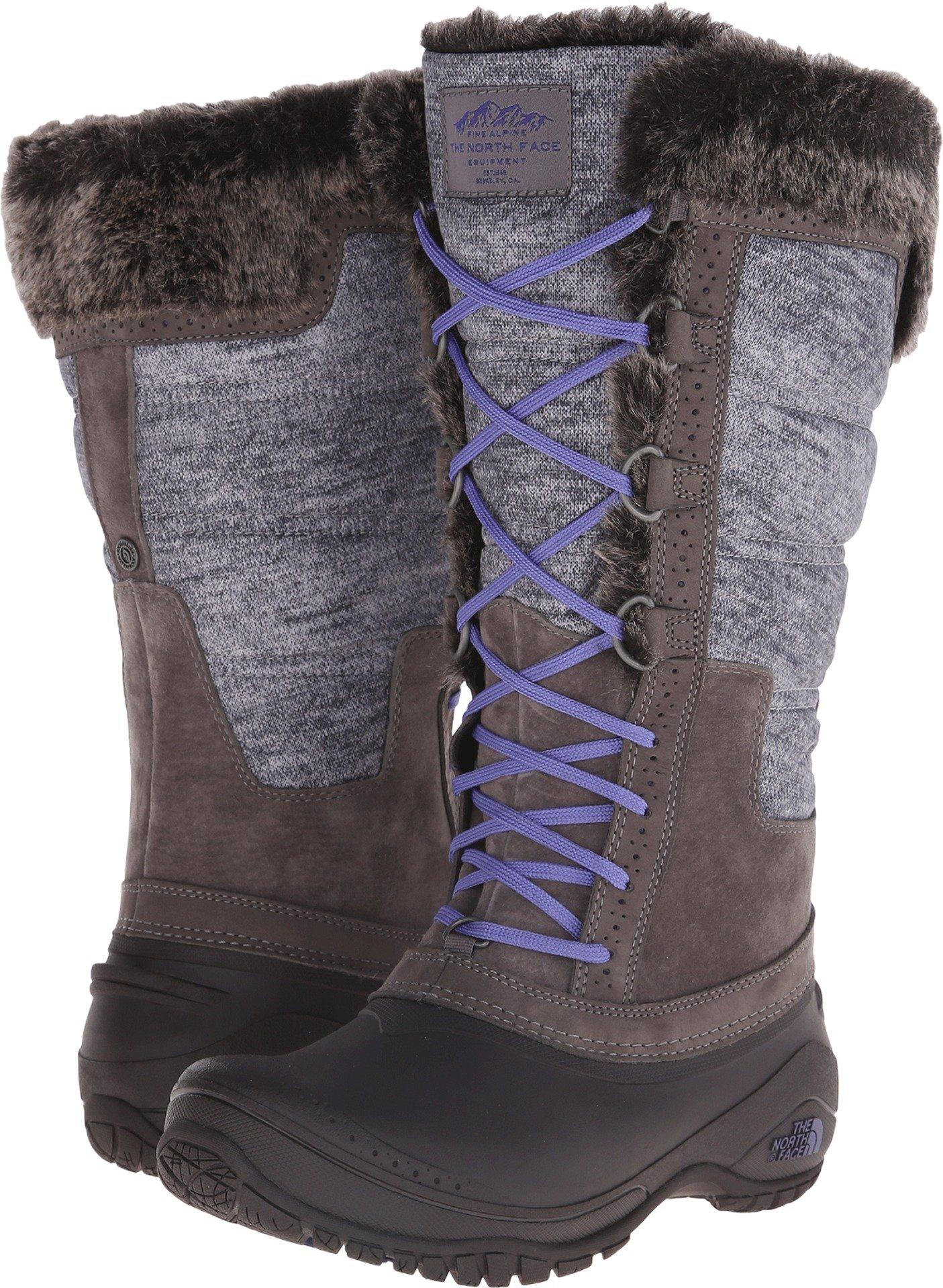 The North Face Shellista II Boot Tall Womens Plum Kitten Grey/Deep Wisteria Purple 7