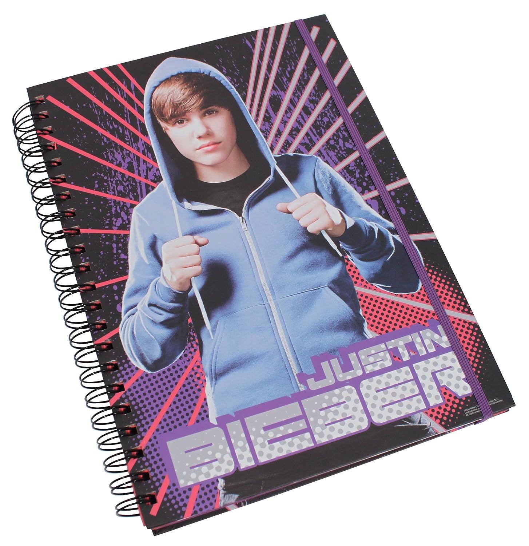 Justin Bieber Cuaderno con anilla de espiral (tamaño A4): Amazon.es ...