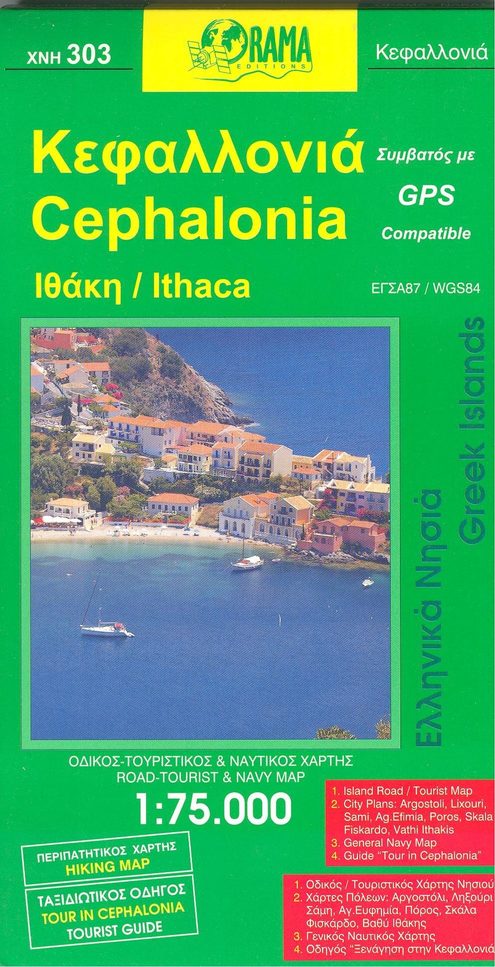 Cephalonia Ithaka Kefalonia Greece 175 000 Visitors Map GPS