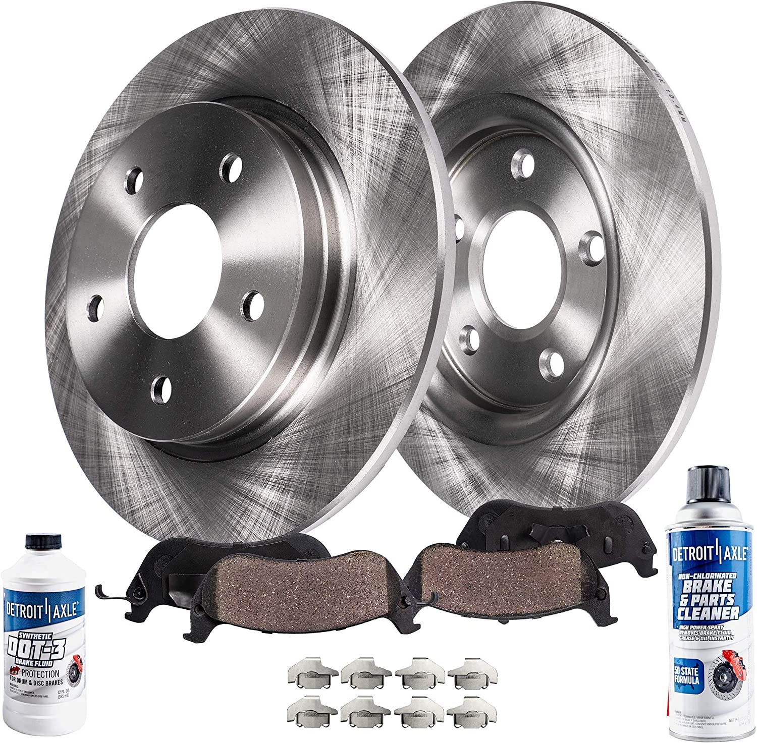 For Acura TL 1999-2008 Rear Brake Rotors with Ceramic Brake Pads Kit Brembo
