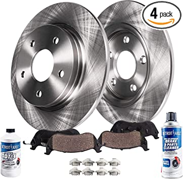 TA133321 Max Brakes Front Performance Brake Kit Premium Cross Drilled Rotors + Metallic Pads Fits: 2006 06 BMW 330i