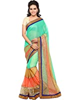 Shree Georgette Saree (Style - 47_Green)