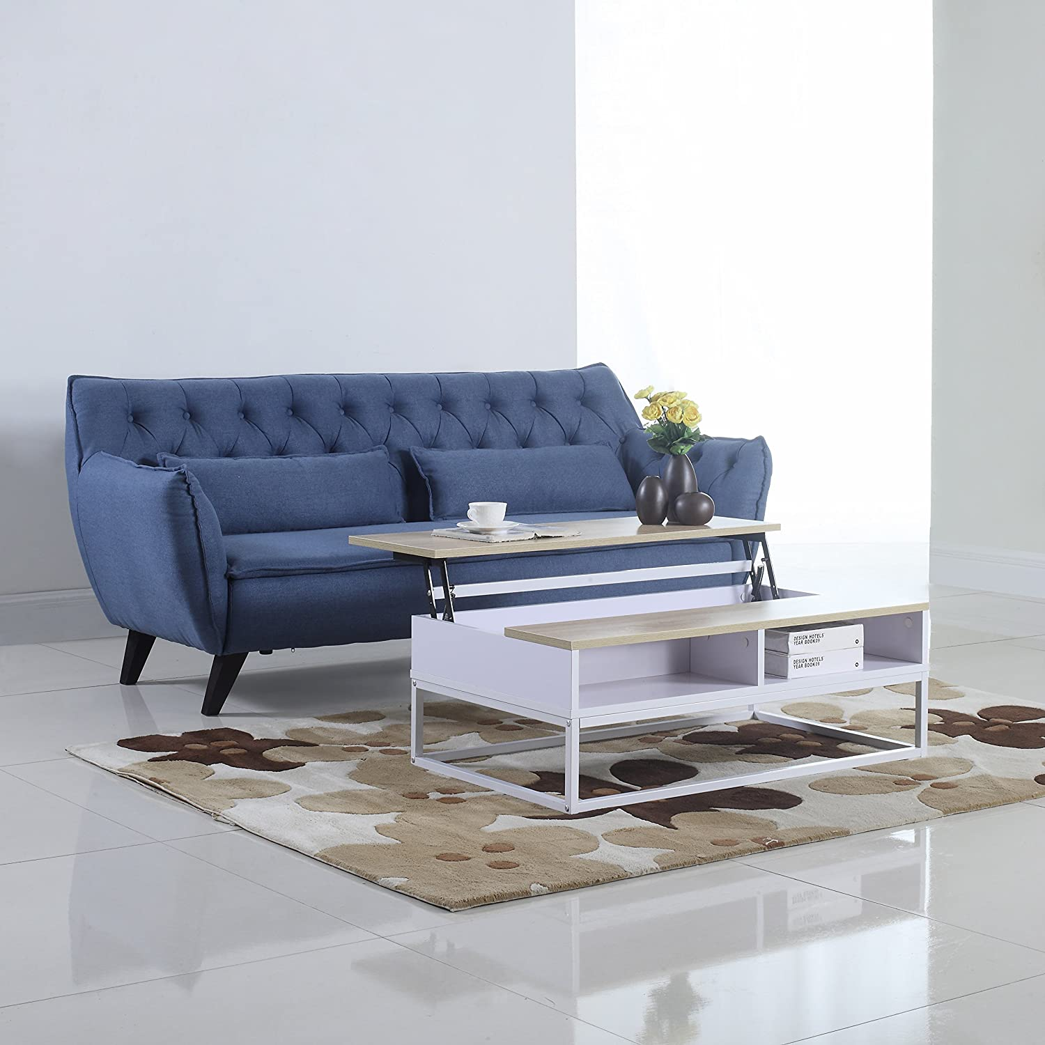 Amazon Modern and Simply Designed Lift Top Coffee Table
