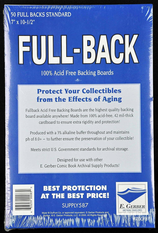 100 EACH Gerber Mylites 2 Standard Mylar /& 100 Half Back Acid Free Boards