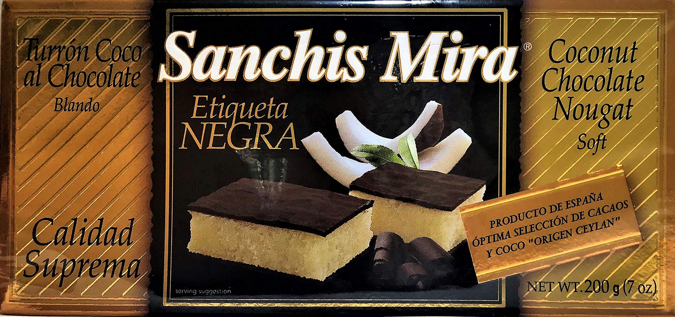 Sanchis Mira Turron de Coco con chocolate Just arrived from Spain. 7 oz.