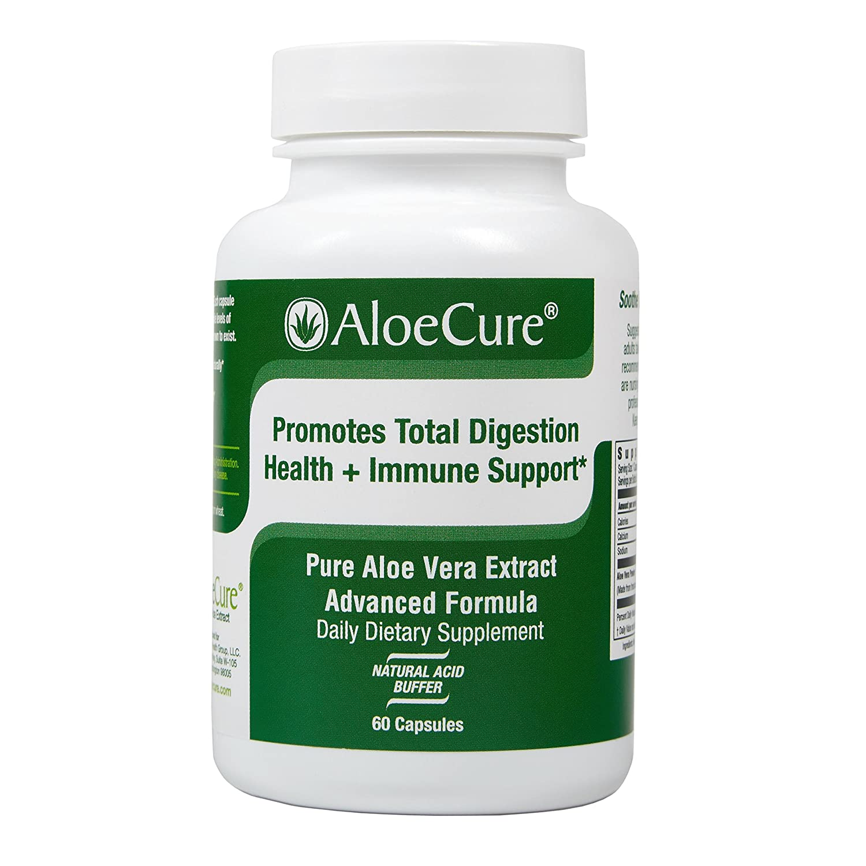AloeCure Advanced Formula - Twice a Day Aloe Vera Capsule 60 capsules