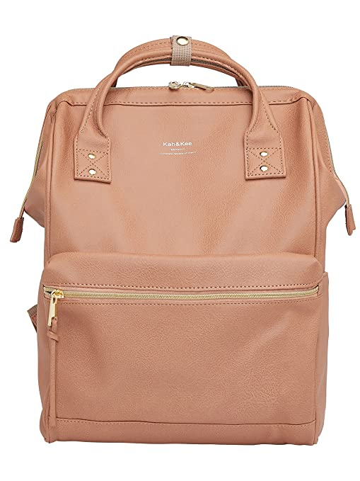 Image Unavailable. Image not available for. Color  Kah Kee Leather Backpack  Diaper Bag with Laptop Compartment Travel School for Women ... 37c7420202b0d