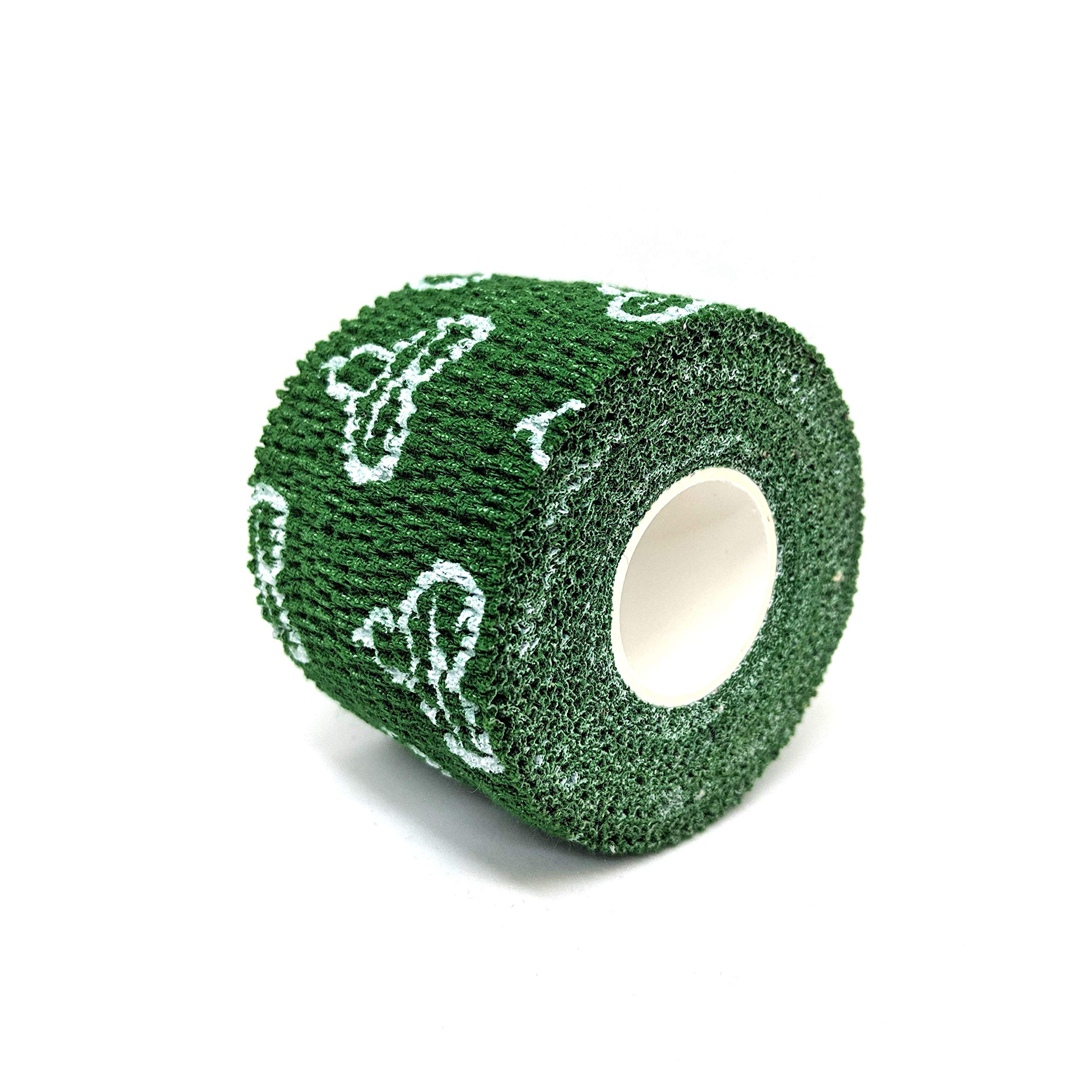 Liftgenie Thumb Adhesive Weightlifting Tape | Protects Thumbs When Lifting Weights & Prevents Knurling | Stretchy Adhesive Athletic Hook Grip Tape for Weightlifters (Green, 3 Rolls) by Liftgenie (Image #2)