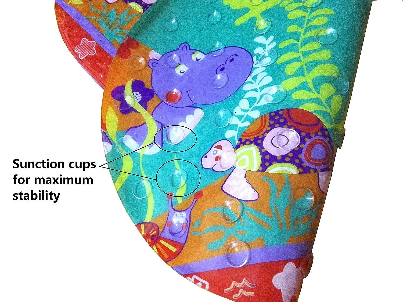 Dunns 70 cm x 38 cm Sicherheits-Badewannenmatte Anti-Rutsch-Matte f/ür Badewanne oder Dusche mit s/ü/ßem Cartoon geeignet f/ür Kinder und Erwachsene