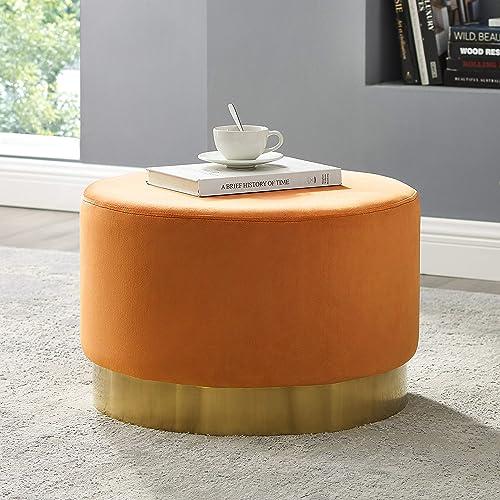 Art Leon Round Ottoman Large
