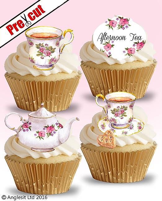 Precortado té tiempo Vintage Tea Party fiesta de cumpleaños ...