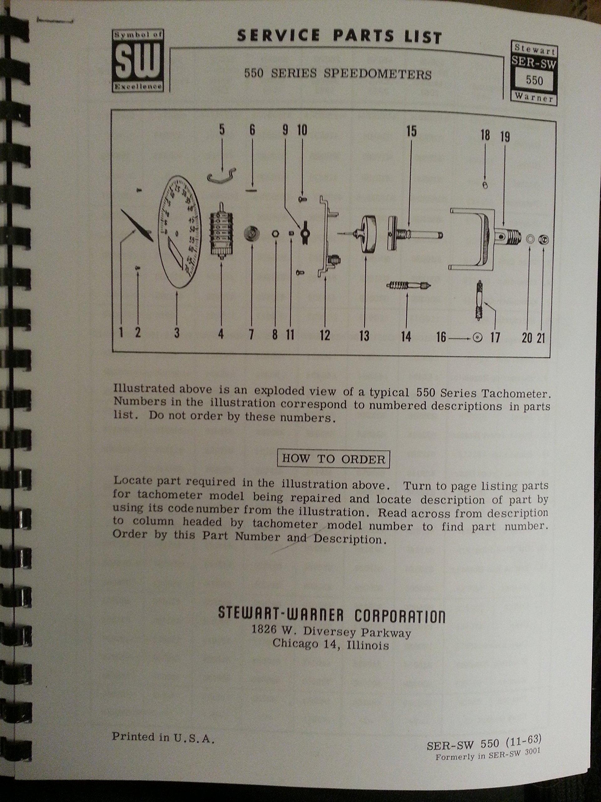 Stewart Warner Speedometer & Tachometer Parts & Service 3 manuals: Stewart  Warner: Amazon.com: Books