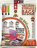 DIBAG 10 Piece Vacuum Compressed Storage Bags (2 Jumbo, 3 Large and 5 Medium)