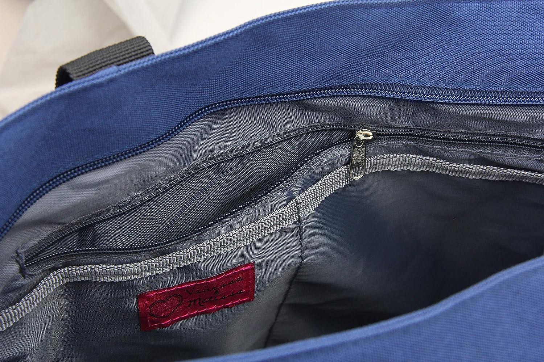 Frentree Nylon Tasche Shopper Handtasche robust /& rei/ßfeste Stofftasche praktisch vielseitig f/ür Strand B/üro Einkaufen Schule