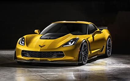 Amazon.com: 2015 Chevrolet Corvette Z06 24X36 Poster Banner Photo ...