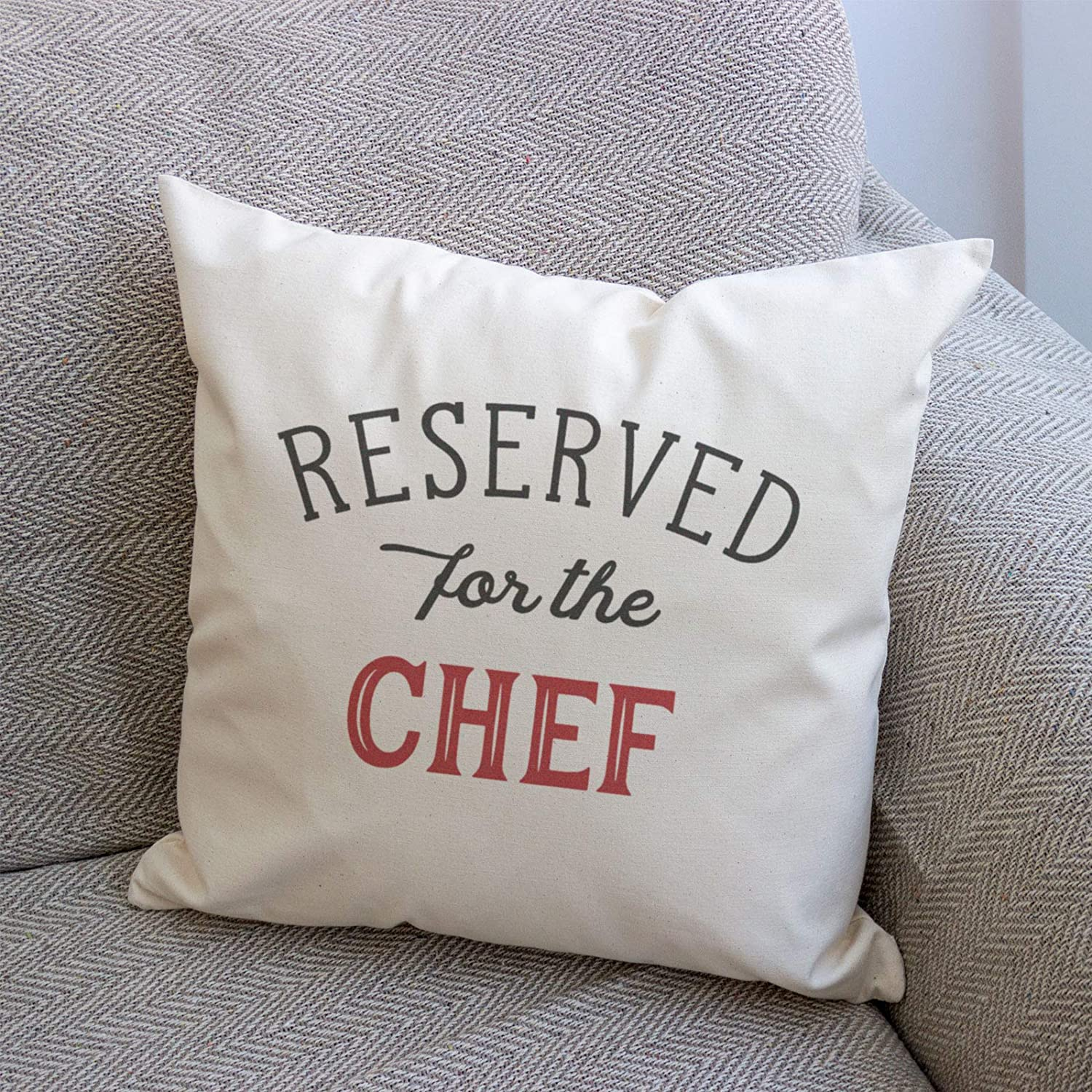 New Gift Present Xmas Birthday Reserved for The Chef Cushion Cover